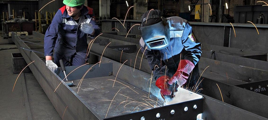 Herstellung von Stahlkonstruktionen